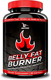 CLA - Belly Fat Burner Weight Loss Pills to Lose Stomach Fat & Eliminate Bloating - for Women & Men - 3,000mg Conjugated L...
