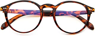 Blue Light Blocking Glasses,Vintage Nails Round Minimize Digital Headache Anti Eyestrain (Tortoise)