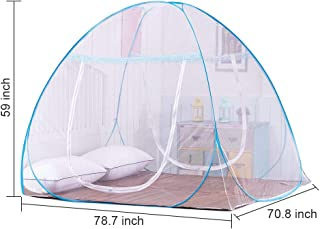 OTraki Pop up Mosquito Net 200L x 180W x 150H Portable Anti Mosquito Tent Free Standing Baby Kids Adult Netting Bottomed Tents Outdoor Foldable Popup Large Travel Mesh Canopy