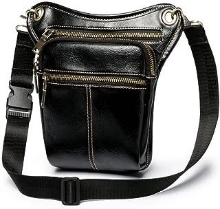 XibeiTrade Men Tactical Drop Leg Bag Pu Leather Waist Pack Shoulder Hip Bag