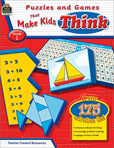 Puzzles and Games That Make Kids Think, Grade 1