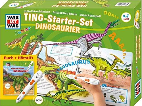 TING Starterset Dinosaurier. Buch + Hörstift: 450 Hörerlebnisse, Bilder und Texte zum Antippen, lustige Dialoge + Reime