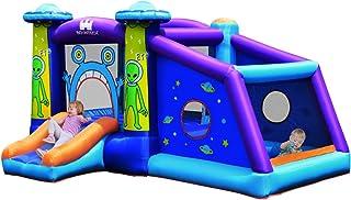 COSTWAY Castillo Hinchable con Patrón de Extraterrestre para Niños 331x258x178cm Infantil Castillo Inflable con Tobogán Sin Soplador