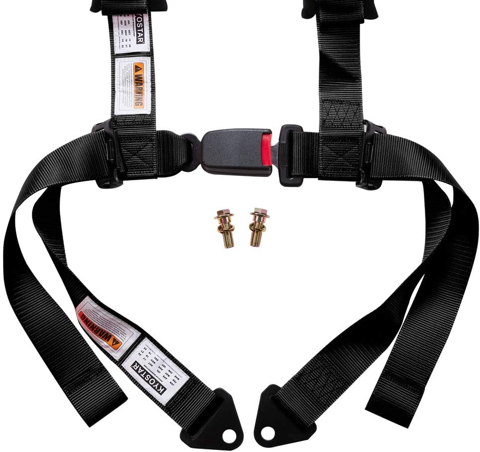 1 Pack-Red Kyostar 5 Points Safety Harness Set with Ultra Comfort Heavy Duty Shoulder Pads
