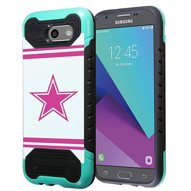Capsule Case Compatible with Samsung Galaxy J7 Prime, J7 Perx, J7 Sky Pro, J7 V, Galaxy Halo, Galaxy J7 SM-J727 (Year 2017) [Quantum Dual Layer Slim Case Mint Black] - (Pink Cowboy)