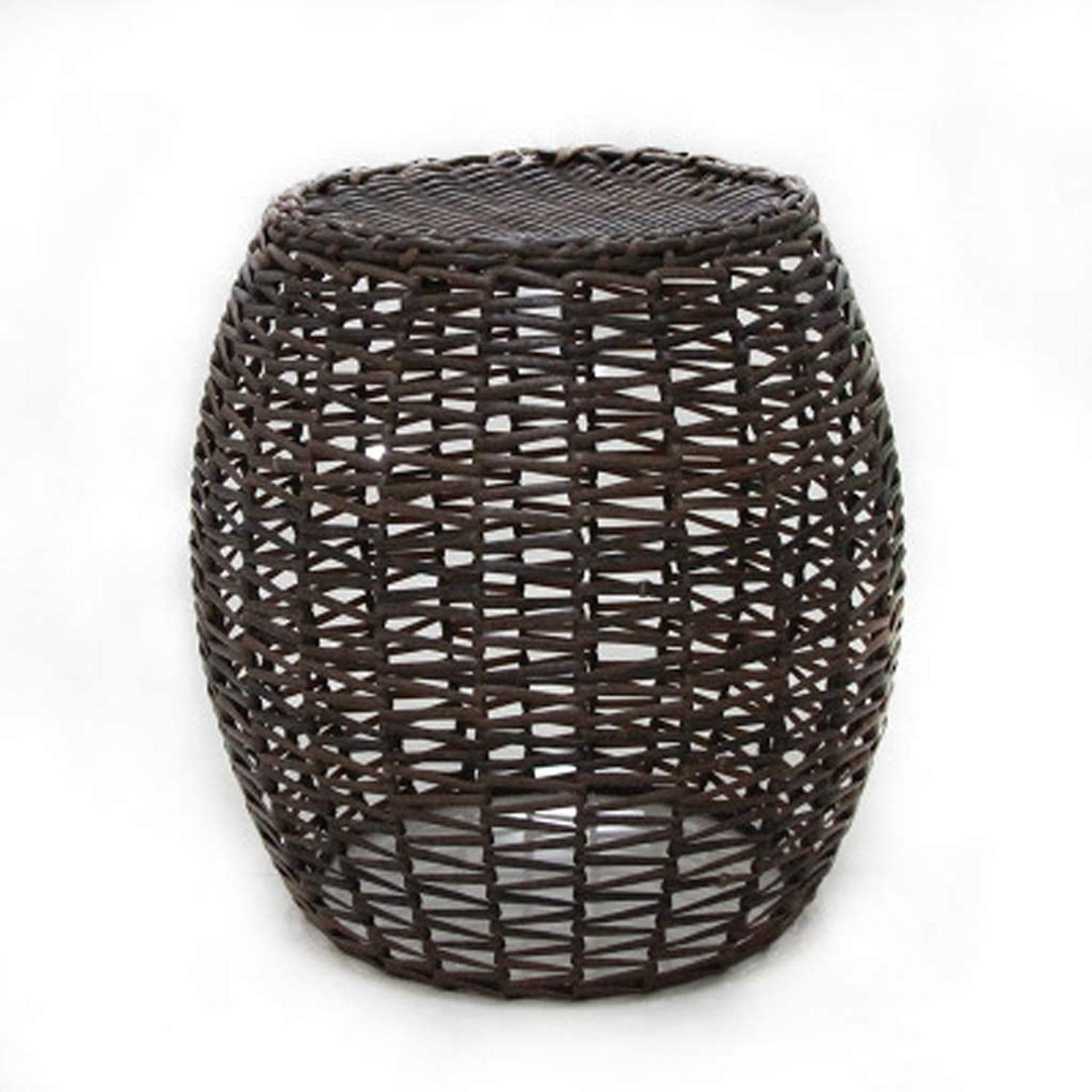 LLDDP Small Stool Creative Rattan Stool Small Stool Weaving Small Round Stool Sofa Stool Change shoes Bench Bed Tail Stool Footstool (color   D)