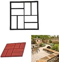 2DXuixsh Pathmate Stone Mold Paving Pavement Concrete Stepping Stone Paver Walk Maker Garden Lawn Path Paver Black