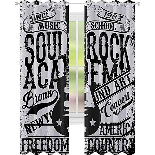 Cortinas de ventana que reducen el ruido, tema de Soul Rock Academy,...