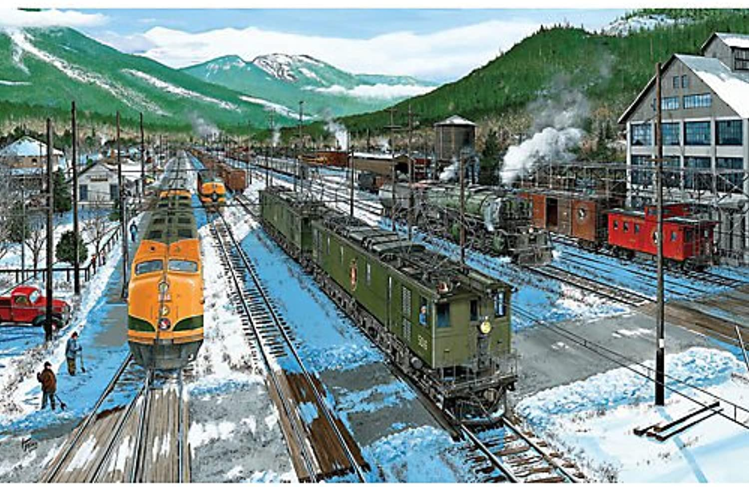 Power Swap at Sky a 550Piece Jigsaw Puzzle by Sunsout Inc.