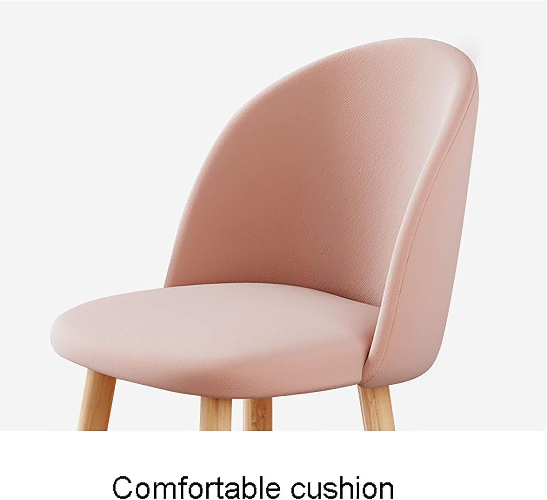 XIAOQIAO Chaises de Salle à Manger Tabouret de Chambre à Coucher Chaise de Maison de Style Nordique avec Coussin Confortable et Dossier Ergonomique, Robuste et Stable Blue