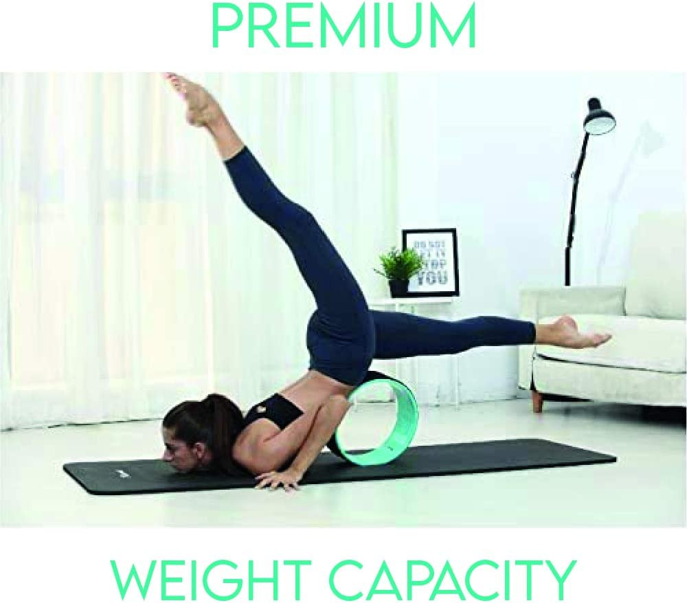 Your Yoga Roller for Back Pain and Improving Yoga Poses Most Strongest Massager The Legends Shop Yoga Wheel Back Stretcher and Chirp Wheel with Thick Cushion Back.