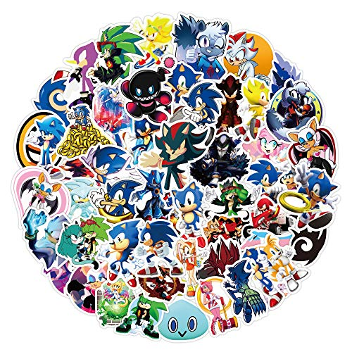 JZLMF 100 pegatinas de graffiti con diseño de erizo de Sonic The Hedgehog, impermeables, 100 unidades