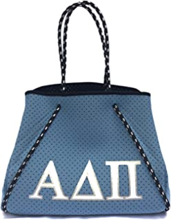 Alpha Delta Pi ADPi Sorority Fraternity Neoprene Tote Bags Purses Totes Fall School Overnight Gym Studio Office Travel Bea...