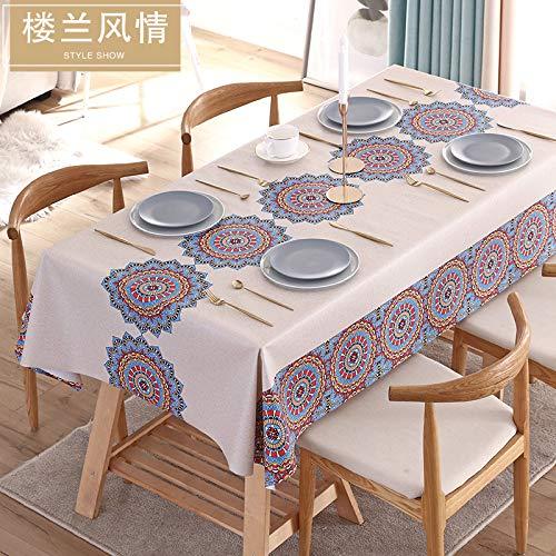 2020 nuevo estilo nacional PVC mantel impermeable a prueba de aceite anti-escalding rectangular mantel mantel mantel mantel mantel
