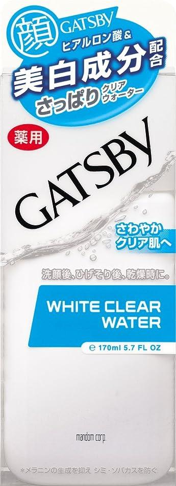 不均一船形秘密のGATSBY (ギャツビー) 薬用ホワイトクリアウォーター 170mL (医薬部外品)