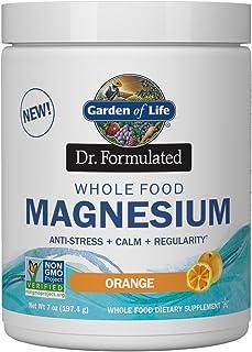 Garden of Life Dr. Formulated Whole Food Magnesium 197.4g Powder - Orange, Chelated, Non-GMO, Vegan, Kosher, Gluten & Suga...