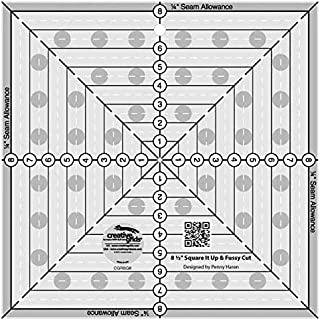 Quilting Template and Ruler 14.5 Inch Square it Up & Fussy Cut - Creative Grids Square Ruler