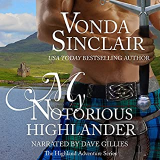 My Notorious Highlander audiobook cover art