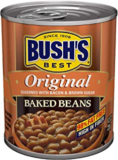 BUSH'S BEST Original Baked Beans, 8.3 Ounce Can (Pack of 12), Canned Beans, Baked..