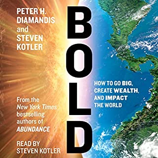 Bold audiobook cover art