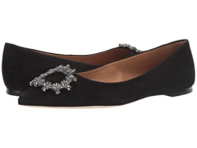 Tory Burch Crystal Buckle Flat (Perfect Black) Women