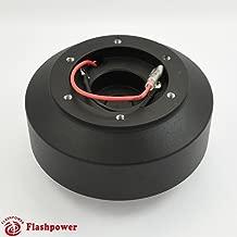 Flashpower Steering Wheel Short Hub Adapter Billet Black For BMW E24 E28 E30 E32