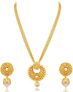 Sukkhi Jewellery Sets for Women (Golden) (3281NGLDPP550)