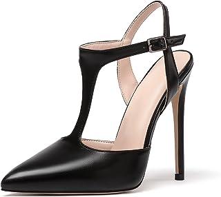 Mettesally Donna T-Strap Stiletto Décolleté a Punta Con Yacco 12CM Sandalo Scarpe Eleganti