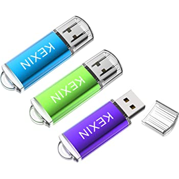 KEXIN Memoria USB 32GB 2.0 Pendrive Llave USB [3 Unidades] Memoria Flash Drive con LED Idicador para Ordenador PC Windows Mac OS (Color de Verde/Púrpura/Azul): Amazon.es: Informática