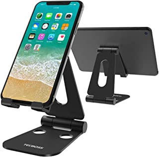 (2 in 1) Tecboss Tablet Stand, Multi-Angle Adjustable Desktop Cell Phone Stand Holder for Nintendo Switch, iPad Mini Air 2...