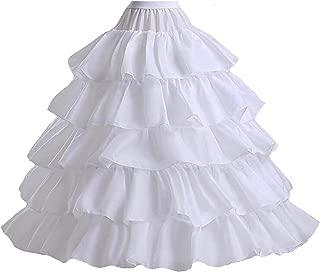 Elinadress Women 4-Hoop Wedding Petticoat Skirt Quinceanera Ball Gown E048