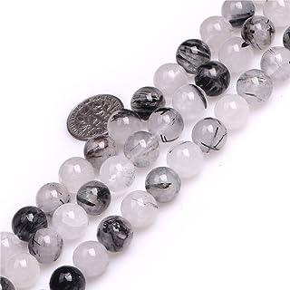 Glaswachsperlen Perlen schwarz glänzend 10 mm 80 Stück Schmuck Basteln V230