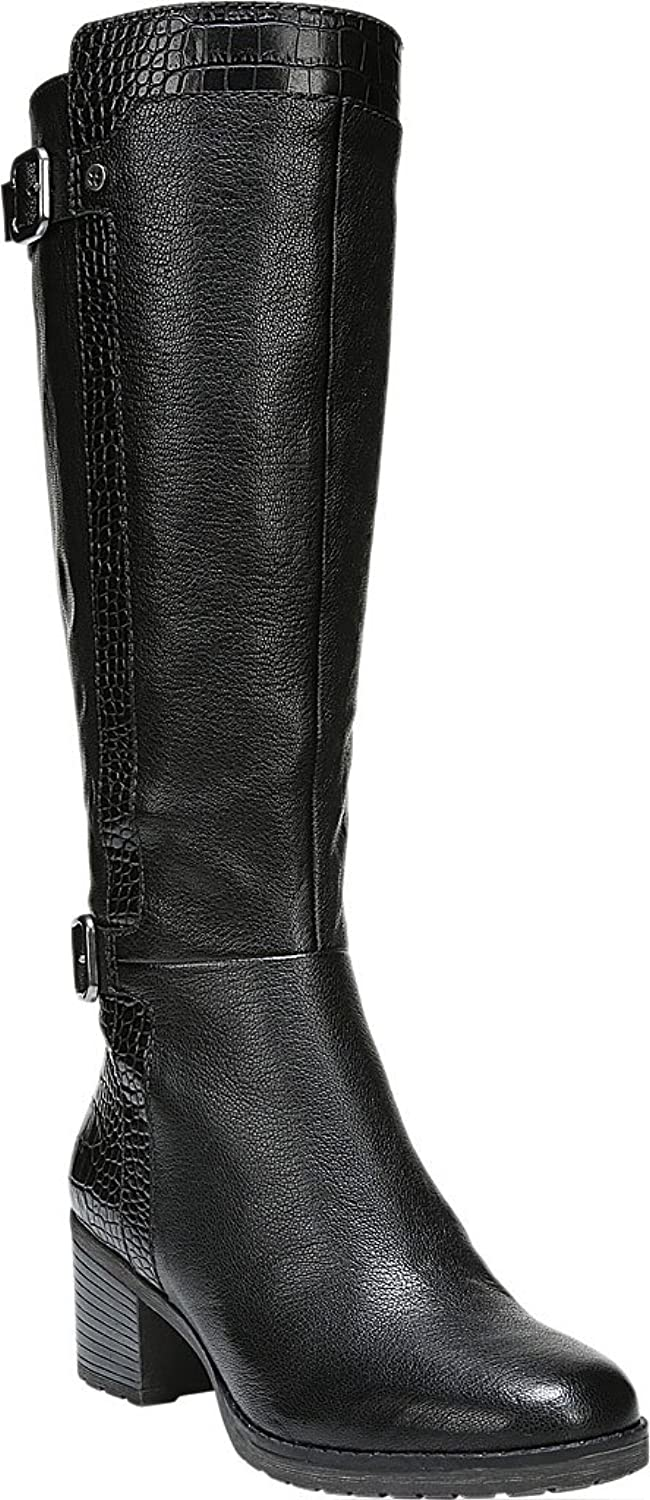 Naturalizer Womens Rozene Leather Lizard Embossed Knee-High Boots