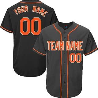 Black Custom Baseball Jersey for Men Women Kids Full Button Mesh Embroidered Team Name & Numbers S-8XL