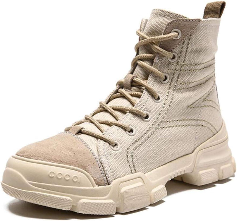 Womens Martin Boots British Style Booties Flat Heel Outdoor Autumn Winter