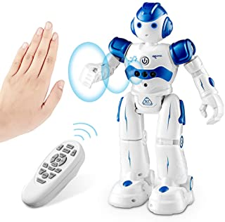 SUNACE Robot de Juguete - RC Robot Programable Juguete Educativo Recargable Robots Juguete de Control Remoto Robot Intelig...