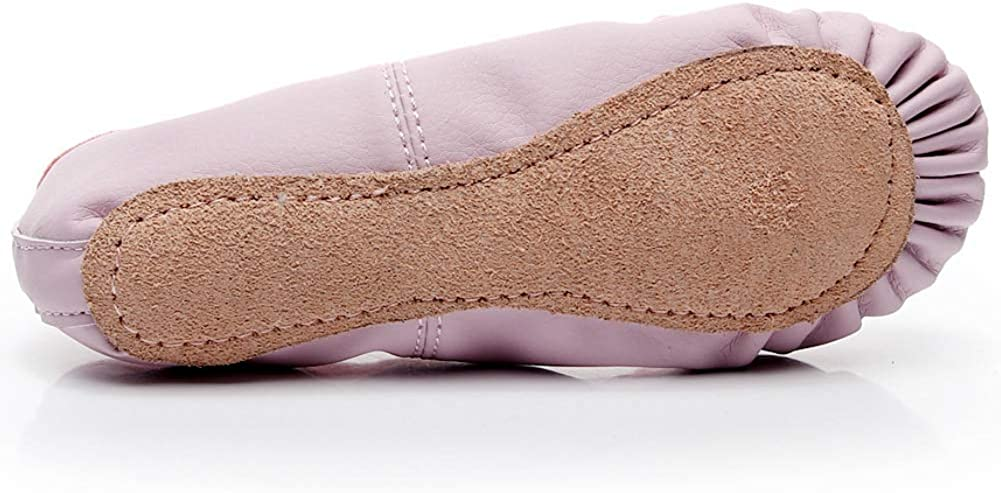 DubeeBaby Leather Ballet Shoes for Girls,Ballet Slippers Flats Dance Shoes Toddler//Little Kid//Big Kid