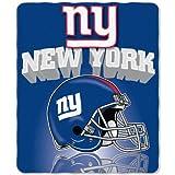 NFL New York Giants Gridiron Fleece Throw, 50-inches x 60-inches