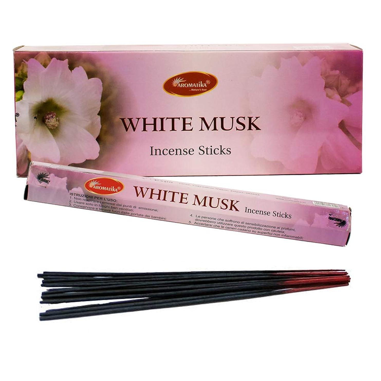 柔らかさ貧困学校の先生aromatikaホワイトムスク香水Incense Sticks ( Hexa )