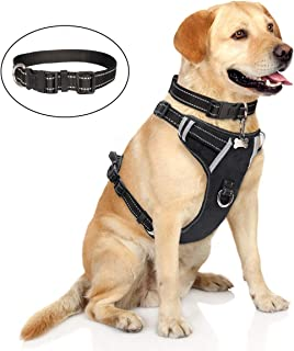 WINSEE Dog Harness No Pull, Pet Harness with Dog Collar, Adjustable Reflective Outdoor..