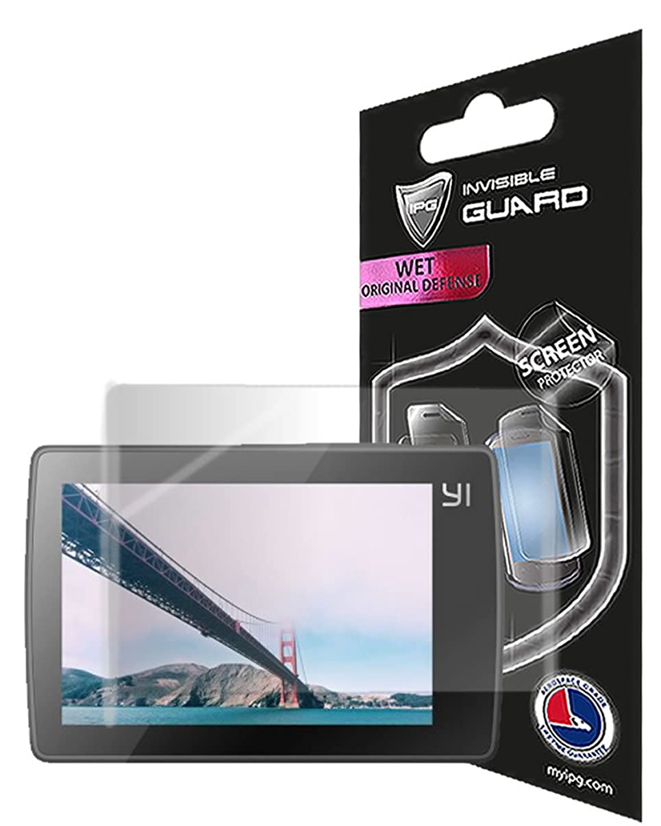 IPG for Xiaomi Yi 2 4K Action Camera 2 Units Screen Protector Film with Lifetime Replacement Warranty Invisible Protective Screen Guard - HD Quality/Self-Healing/Bubble -Free by