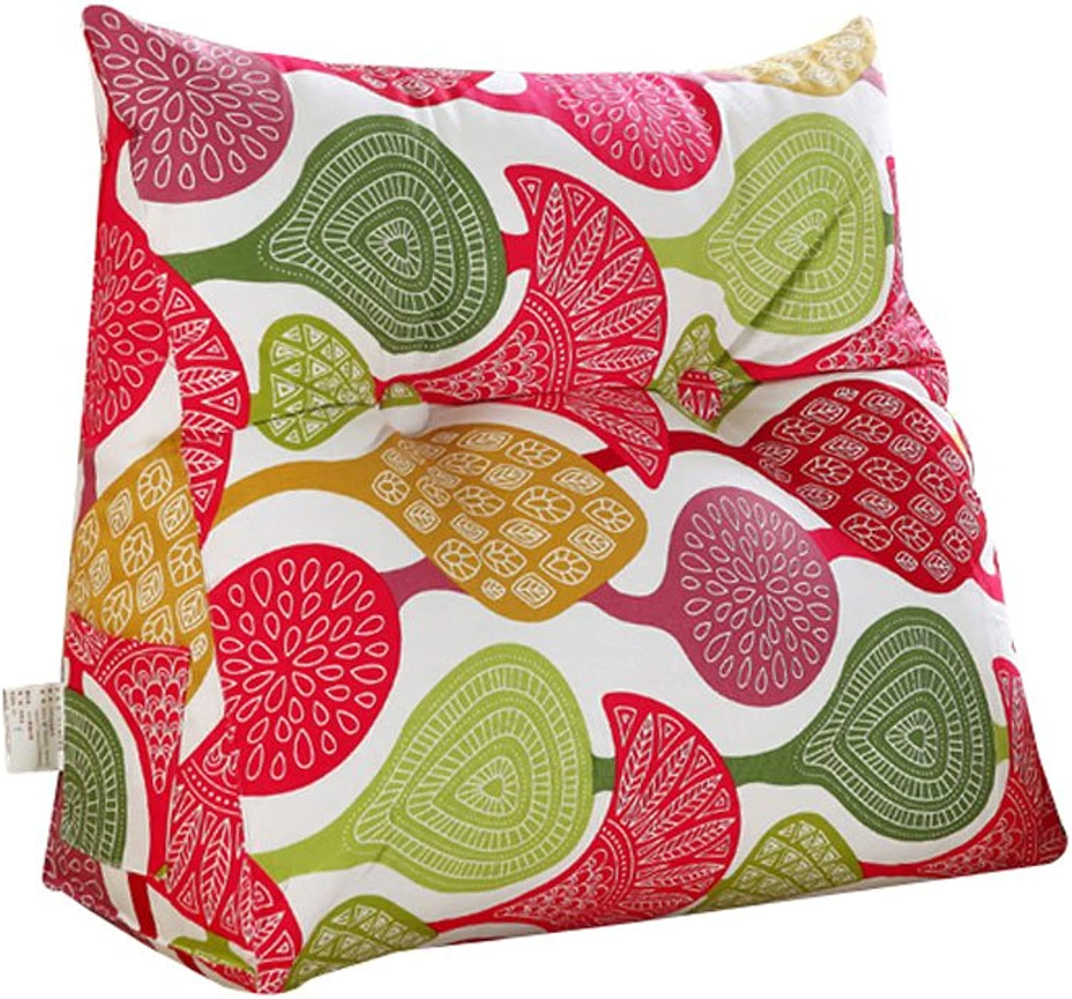 DDSS Bed cushion Bedside Triangular Cushion Large Back Bed Tatami Sofa Cushions Waist Pillow Washable Printing  -  (color   B, Size   60cm20cm50cm)