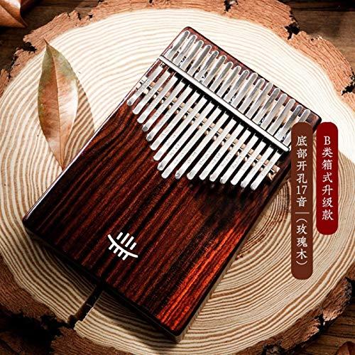 SYXMSM Kalimba Daumenklavier Aus Holz Volle Fester Kalimba 17 Keys Unteres Loch Mbira Palisander Musikinstrument for Anfänger (Color : Rose Wood)
