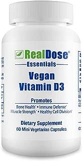 Doctor Formulated Vegan Vitamin D3 Supplement (cholecaliferol) 1000 IU - Helps Maintain Healthy Bones, Strong Muscles, Teeth, Beautiful Skin & Immune Health - 60 Mini Non-GMO Vegetarian Capsules