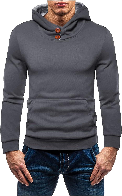 Men's Fleece Crewneck Sweatshirt, Lightweight French Terry Full-Zip Hooded Sweatshirt Athletic Hoodies Sport Sweat