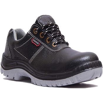 Hillson TC007025081 Panther ISI Marked Safety Shoes (Black, Size 8 UK)