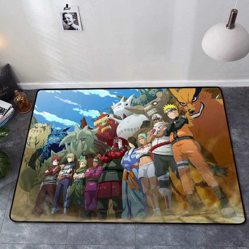 Naruto Bath Rugs Be super welcome Non Slip Low price Floor D Kitchen Washable Mat
