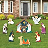 Big Dot of Happiness Holy Nativity - Yard Sign and Outdoor Lawn Decorations - Manger Scene Religious Christmas Signs - Set of 8