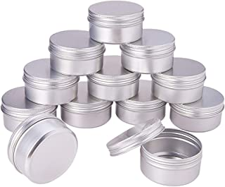 Pandahall Elite 2.7oz 20 Pack Silver Aluminum Round Tins Empty Slip Slide Round Containers Bottle with Screw Lid for Lip Balm,Crafts,Cosmetic,Candles,Travel Storage