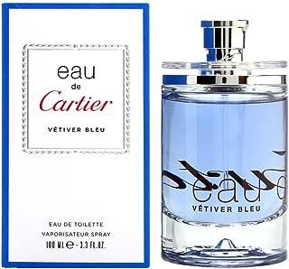 Eau De Cartier Vetiver Bleu by Cartier 3.3 oz Eau de Toilette Spray